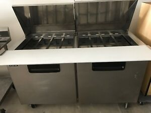 Blue Air Bamt60 Two 2 Door Mega Top Sandwich Prep Table 60 Refrigerator