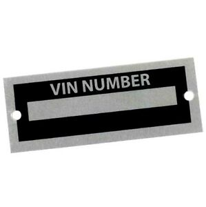 Universal Body Tag Plate Number Salvage Vin Id Replicar Hot Rat Rod Replacement