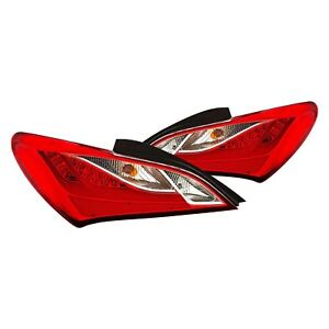 For Hyundai Genesis Coupe 2010 2013 Cg Chrome red Fiber Optic Led Tail Lights