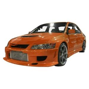 For Mitsubishi Lancer 03 07 Ait Racing Cw Style Fiberglass Side Skirts Unpainted