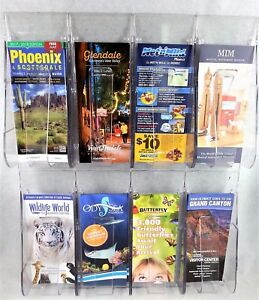 Deflecto Stand Tall Brochure Display Literature Rack Wall Mount Leaflet Pamphlet