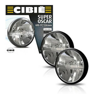 New Pair Of Cibie Super Oscar 9 Black Auxiliary Light Fits Various Cars 45308
