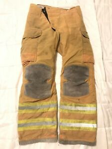 Lion Janesville Firefighter Turnout Pants Bunker Gear W Liner 34 X 34