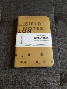 Rare Field Notes Xoxo 2014 3 Pack Brand New Unopened