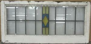 Old English Leaded Stained Glass Window Transom Simple Diamond 34 75 X 16 5