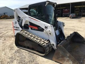 2016 Bobcat T650 Rubber Track Skid Steer Loader 2 Speed 535 Hr Bob Cat