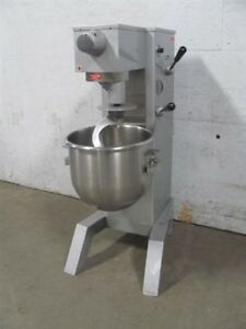 Univex M30 Commercial Mixer 30qt W Dough Hook Vs9 Slicer Grater Attachment