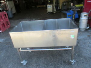 48 X 24 3 Bay Commercial Sink Deep Well 13 1 2 Deep 24x24 Stainless Steel