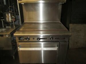 Imperial Nat Gas Or Lpg Restaurant Range 36 Flat Top Griddle W Standard Oven