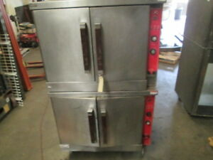 Vulcan Eco4s Double Stack Electric Convection Baking Oven Stainless Steel