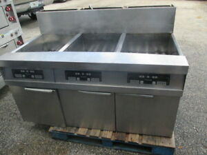 Dean Frymaster Stainless Steel 3 station Lpg Deep Fryer Propane Gas