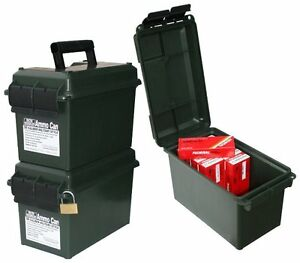 Ammo Storage Can Box Locker 50 Caliber Container Portable Forest Green Adventure
