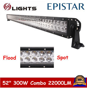 52inch 300w Led Offroad Combo Beam Lamp Light Bar Froad Truck Fog 4wd Auto 48 51