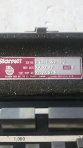 Starrett Webber Nine Piece Block Gage Set Etch g2t27