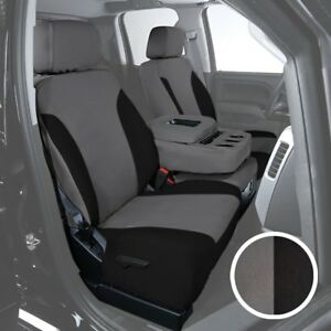 For Toyota Pickup 89 95 Canvas 1st Row Charcoal W Black Custom Seat Covers