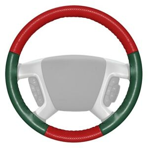 Wheelskins Europerf Perforated Red Steering Wheel Cover W Green Sides Color