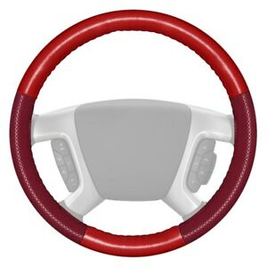Wheelskins Europerf Perforated Red Steering Wheel Cover W Burgundy Sides Color