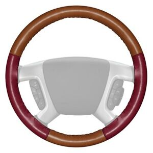 For Toyota Mirai 17 Steering Wheel Cover Eurotone Two color Tan Steering Wheel