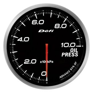 Defi Df10201 Advance Bf 60mm Oil Pressure Gauge W White Lighting