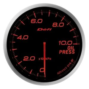 Defi Df10202 Advance Bf 60mm Oil Pressure Gauge W Red Lighting