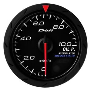 Defi Df08102 Advance Cr 52mm Oil Pressure Gauge