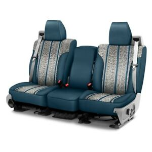 For Ford F 150 11 14 Saddleman Saddle Blanket 1st Row Blue Custom Seat Covers