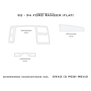 For Ford Ranger 1992 1994 Sherwood 2d 0942 as 2d Charcoal Cherry Upgrade Kit