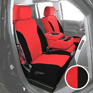 For Ford F 150 97 98 Saddleman Neosupreme 2nd Row Red W Black Custom Seat Covers