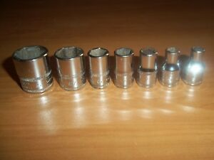 Snap on 7 Pc 1 4 Drive Metric Socket Set 5mm To 15mm 6 Point Shallow Tmm nice