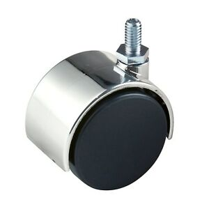 Econoco Tw12 2 Plastic Black Twin Wheel Caster With Chrome Hood With 5 8