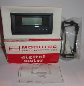 Modutec Digital Voltage Meter 0 20 Vdc 2033 3403 04 U New In Box