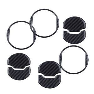 Carbon Fiber Interior Air Vent Outlet Ring Cover Trim For Ford Mustang 2014 2018