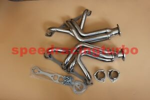 New Stainless Polished Headers For 55 57 Chevy 55 82 Corvette Chassis Sbc Racing