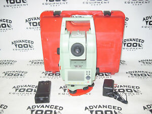 Leica Tc407 Total Station Dual Displaytransit Level W Battery Charger And Case