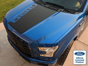 2015 18 Ford F 150 Hood Stripe Decal W Angled F150 Logo Vinyl Stickers Graphics