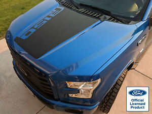 2016 Ford F 150 Hood Stripe Decal W Angled F150 Logo Vinyl Stickers Graphics