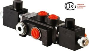 1 Spool Hydraulic Monoblock Directional Solenoid Control Valve 13 Gpm 12v Dc