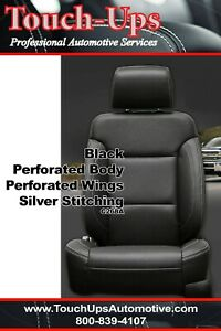 2014 2018 Gmc Sierra Crew Cab Sle Black Silver Leather Seat Covers Replacement