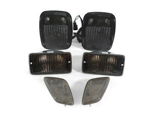 Depo Smoke Tail Bumper Signal Side Marker Lights For 1998 2006 Jeep Wrangler Tj