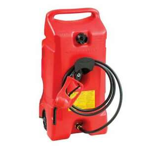 Scepter Flo N Go Duramax 14 Gal Portable Gas Fuel Tank Container W Pump used