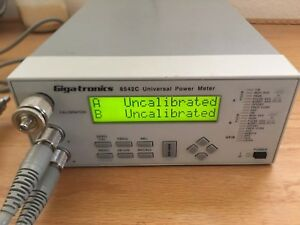 Gigatronics 8542c 80601a Universal Power Meter Tested With Two Sensors Cables