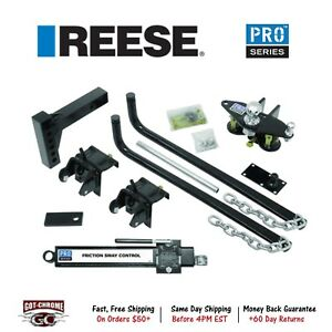 49904 Reese Round Bar Weight Distribution Hitch 1000 12000 Lb Capacity W Shank
