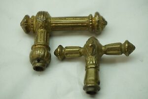 Antique Door Hardware Lever Handle Lot Of 2 Bronze Architectural Salvage B