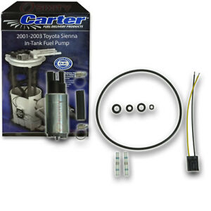 Carter In tank Fuel Pump For 2001 2003 Toyota Sienna 3 0l V6 Electric Ul