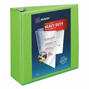 Avery Heavy duty View Binder With Locking Ezd Rings 4 Inches Capacity Chartreuse