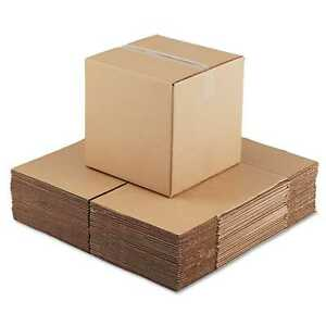 General Supply Brown Corrugated Cubed Fixed depth Shipping Boxes 14l X 14 inch