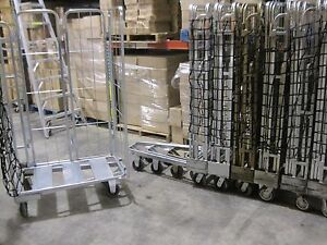 Industrial Rolling Cage Carts Multi Use Material Handling Racks