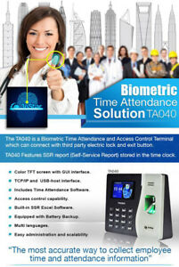 3nstar Biometric Fingerprint Time Attendance Ta040 Capacity 500 Record 50000