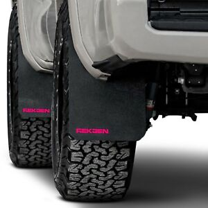 For Toyota Tacoma 2016 2017 Rek Gen T2006 Rally Edition Mud Flaps W Pink Logo