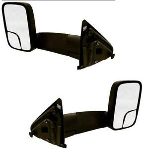 Pair Tow Mirrors For Dodge Truck 1994 2001 94 02 2500 W Brackets 7x10 Manual
